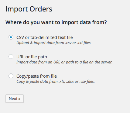 WooCommerce Customer / Coupon / Order CSV Import suite: import location