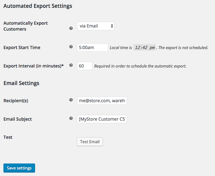 WooCommerce Customer / Order CSV Export: Automated customer exports