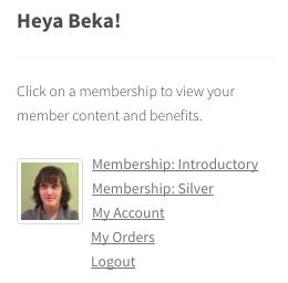 WooCommerce memberships: member widget links