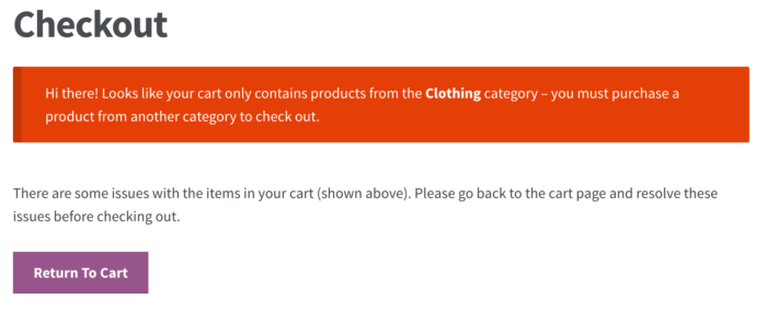 WooCommerce Checkout: Add-on products only