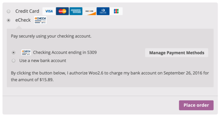 WooCommerce Authorize.Net CIM Single-Purchase Authorization