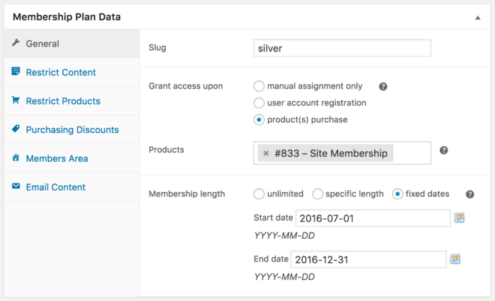 WooCommerce Memberships fixed date access