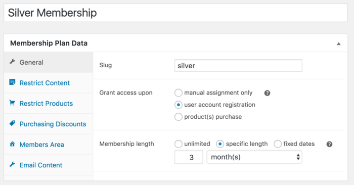 WooCommerce memberships free membership set up