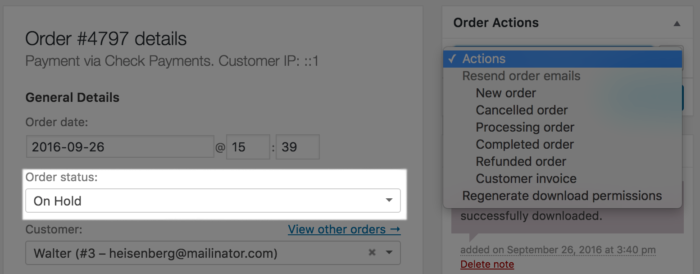 WooCommerce Custom Order Actions Hidden for Unpaid Order