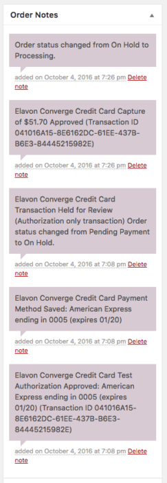 WooCommerce Elavon Payment Captures
