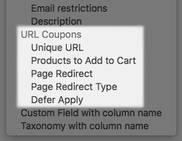 WooCommerce URL Coupons import options added