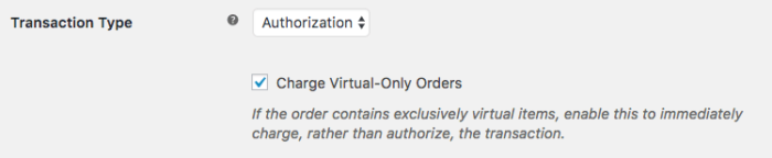 WooCommerce Authorize.Net AIM / CIM virtual only charge