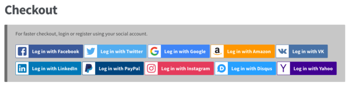 WooCommerce Social Login: Updated buttons
