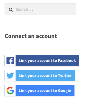 WooCommerce Social login widget logged in