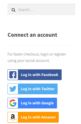 WooCommerce Social login widget logged out
