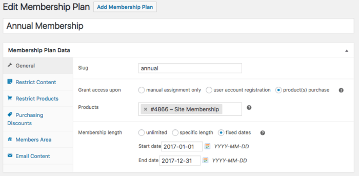 WooCommerce Memberships: Update fixed date plan