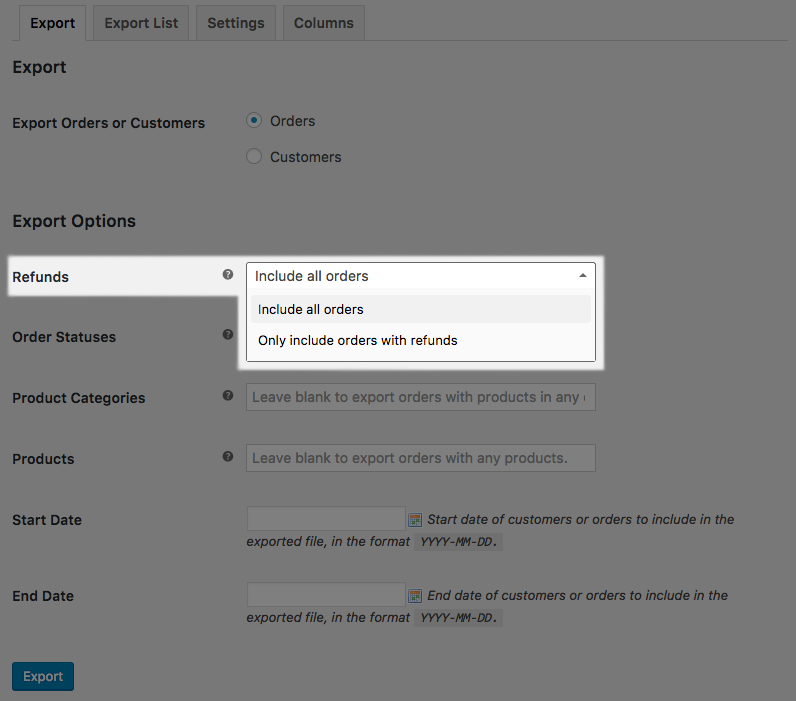 How to Export WooCommerce Refunded Orders - SkyVerge