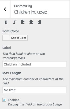 WooCommerce PDF Product Vouchers: Custom field settings