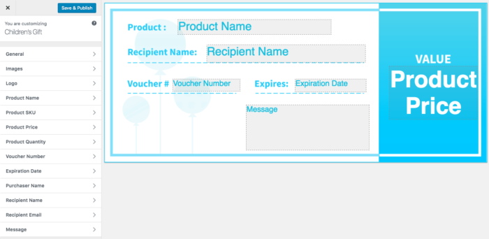 WooCommerce PDF Product Vouchers: New template