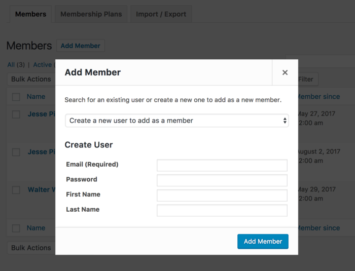 WooCommerce Memberships: Add new user