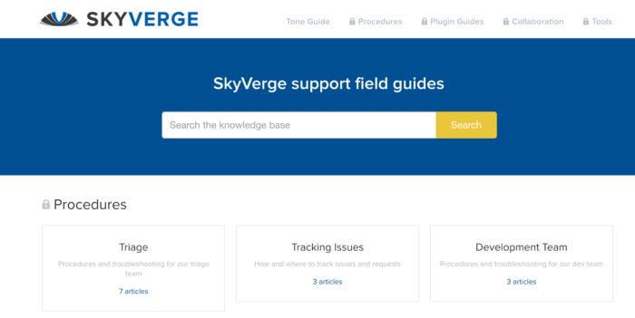 SkyVerge Support field guide