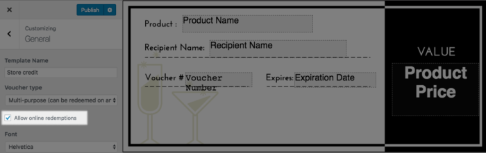 WooCommerce PDF Product vouchers settings