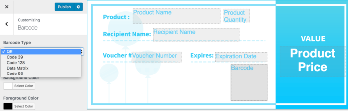 WooCommerce PDF Product Vouchers add barcode