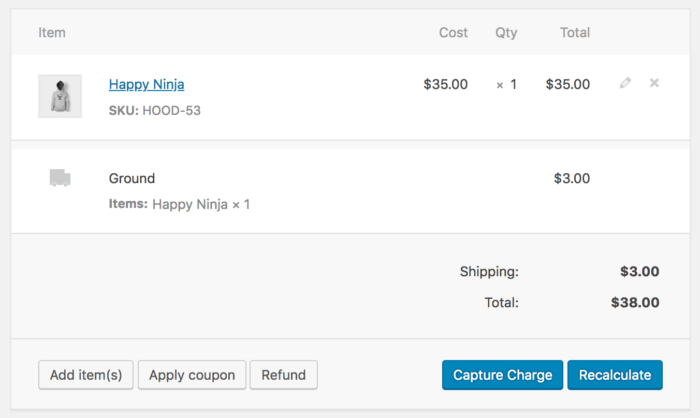 WooCommerce NETbilling capture charges
